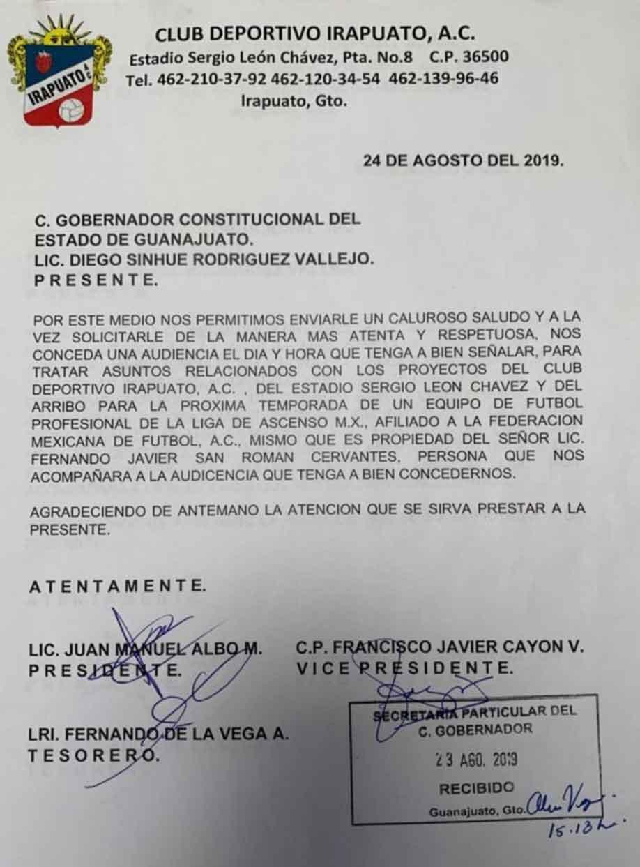 Photo of Club deportivo Irapuato A.C. fue quien invito a grupo Tecamachalco para venir a Irapuato